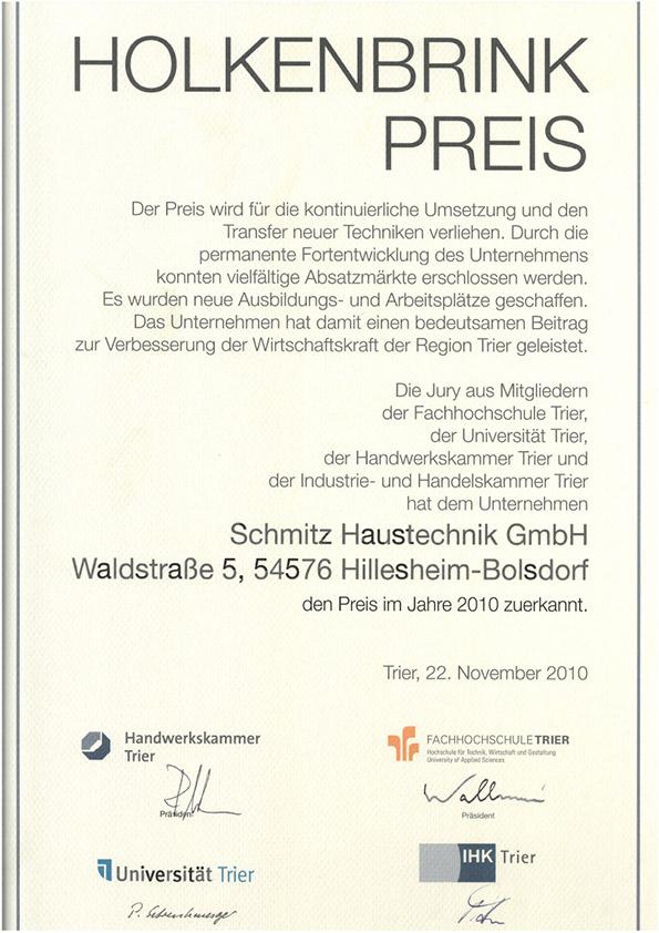 Holkenbrink Preis 2010