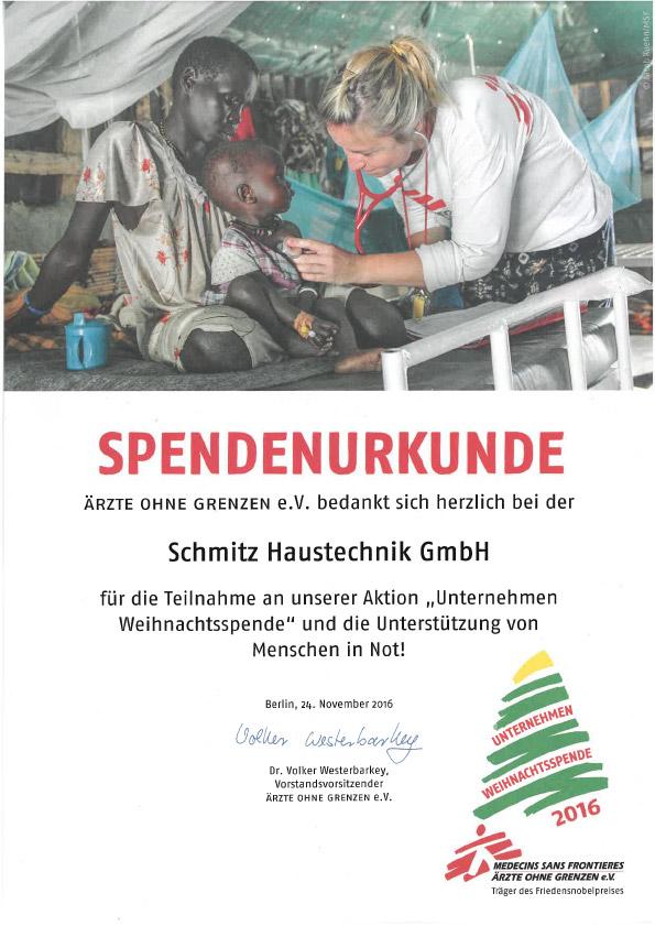Spendenurkunde