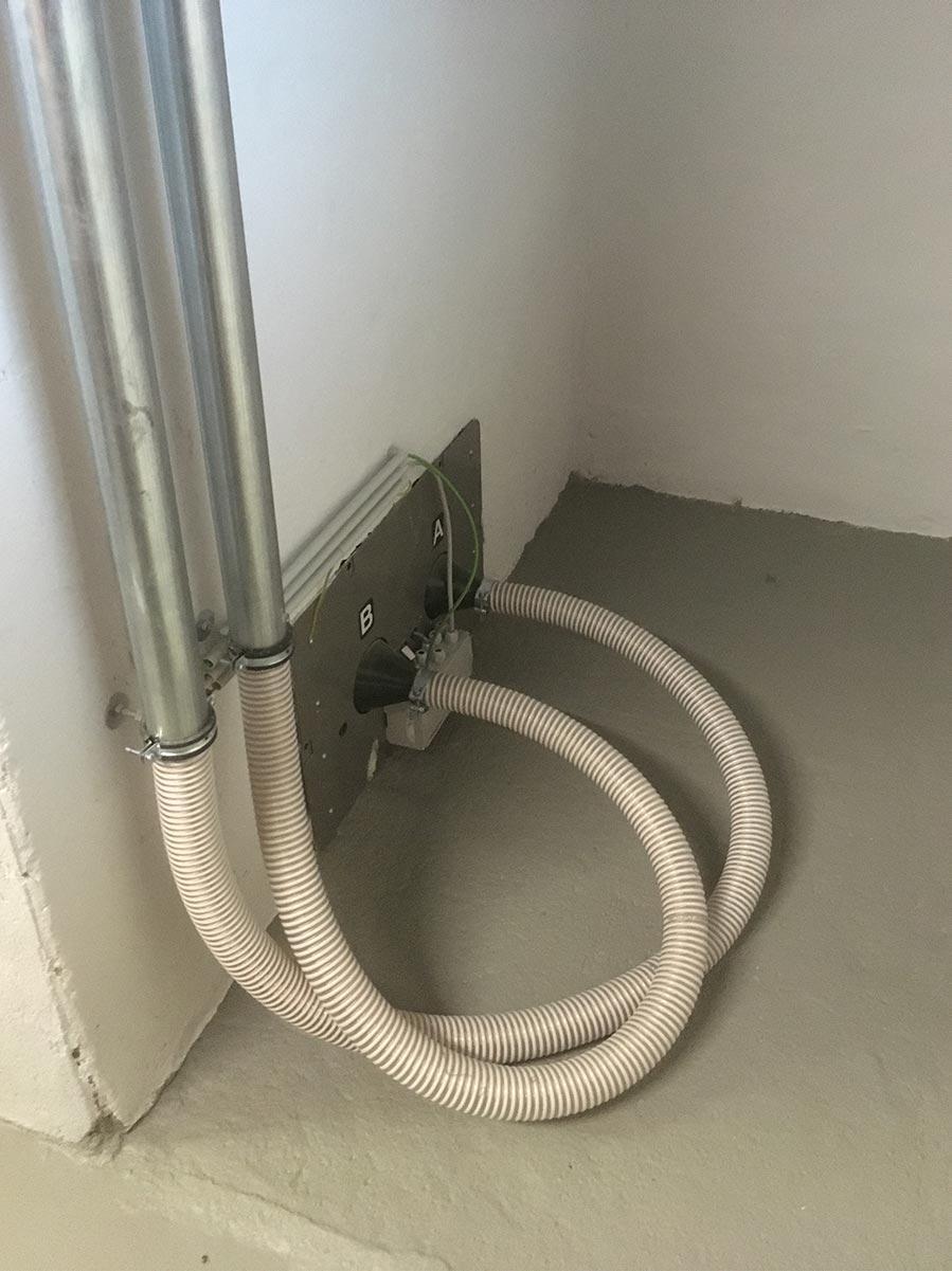 Pellets-Lagerraum in Saugsonden-Technik