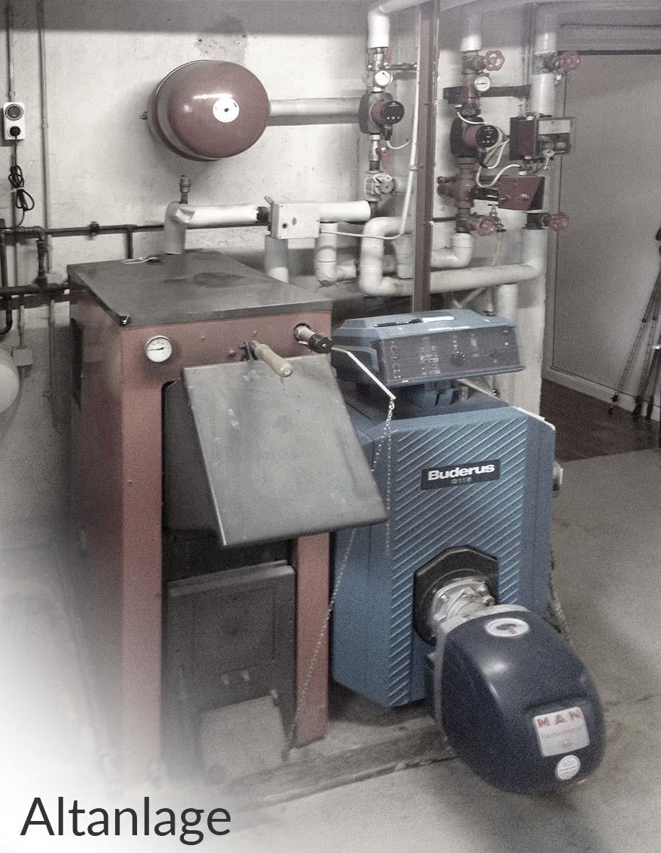 alte Öl-Heizungsanlage