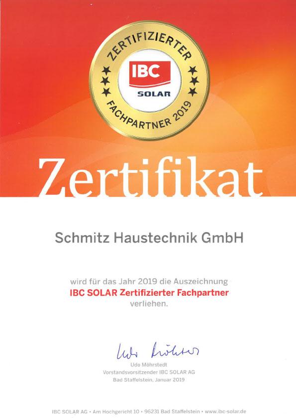 IBC SOLAR Zertifizierter Fachpartner